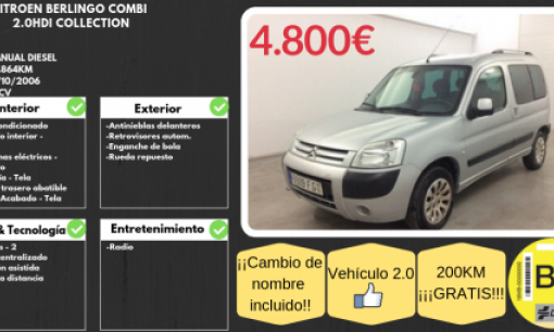 CITROEN BERLINGO COMBI 2.0HDI COLLECTION